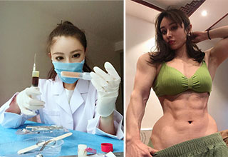 Yuan Herong is a Chinese bodybuilder, who decided to pursue a career in medicine. Thankfully, she still finds time to show off her extraordinary form.