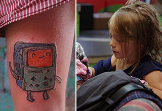 Would you get a tattoo from a 9-year-old?