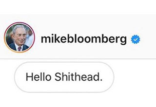 Mike Bloomberg has tried a new technique to convince the kids that he's cool.