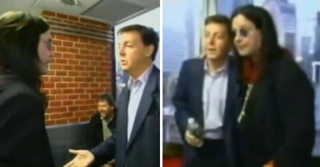 Ozzy Osbourne meets Paul McCartney in an kind of awkward conversation