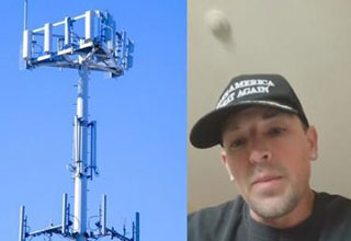 guy tells the truth about the 5G towers being installed around the world | pic of 5g towers and man revealing information about it