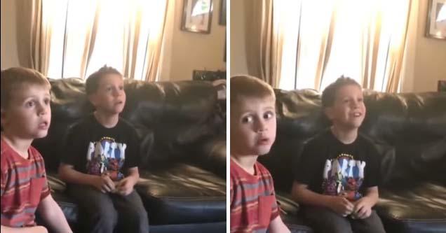 Little boy asks mum awkward question after seeing next