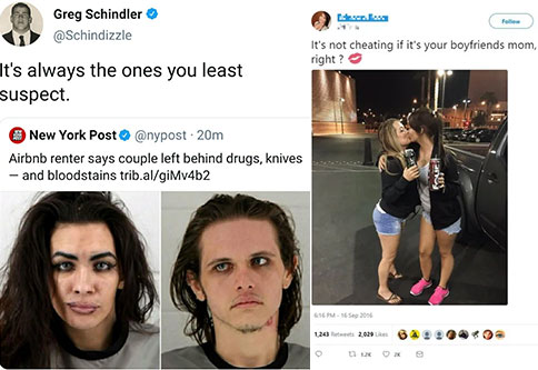 white twitter memes | Airbnb - Greg Schindler It's always the ones you least suspect. York Post New York Post 20m Airbnb renter says couple left behind drugs, knives and bloodstains trib.algiMv4b2 | Airbnb - Greg Schindler It's always the ones you least s