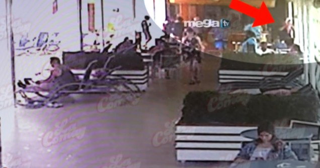 surveillance video taken right before a grandfather dropped his granddaughter off a cruise ship in July.