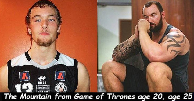 bunch of funny and random pics | a photo of halfthor at 20 and 25 after game of thrones
