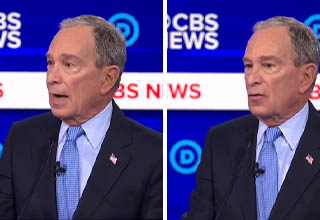 Mike Bloomberg accidentally says he 'bought' representatives in congress | picture of bloomberg on cbs news talking about buying democrats