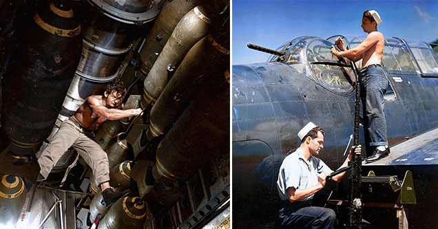 amazing shots from WW2 that have been brought to life with color