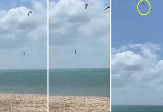 Windsurfer gets way, way up in the sky