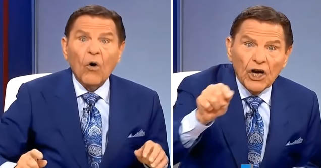 Televangelist Kenneth Copeland telling people to donate tithes even if they lose their jobs