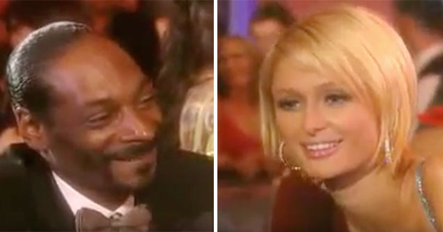 paris hilton and Snoop Dogg rap together | video from 2009 showing snoop and paris rapping