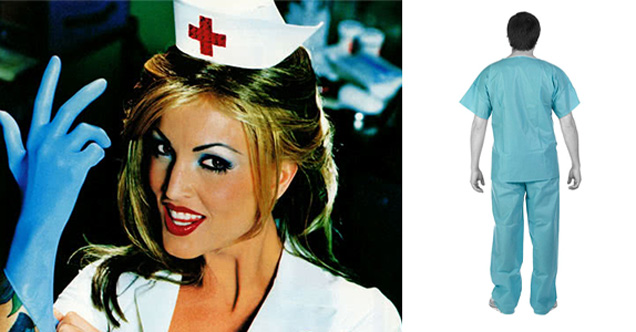 sexy nurse putting on gloves - man in medical scrubs | uk purchasing scrubs from a fetish website
