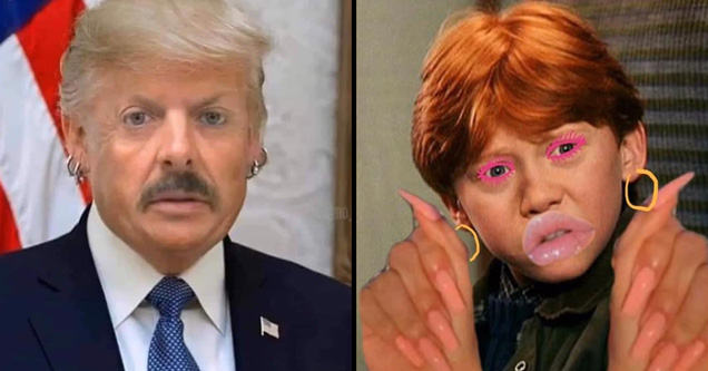 bunch of random pics and memes that'll make you laugh | joe exotic donald trump mashup - ronald weasley drag queen