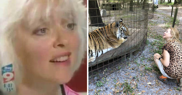 Carole Baskin investigated for animal cruelty in 2006 | pic of carole baskin | baskin looking at a tiger