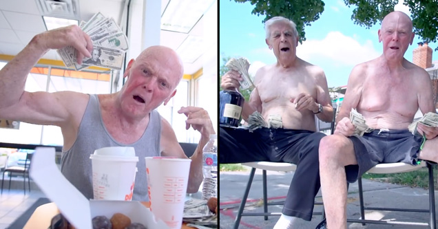 funny video of two old men named frank maury that rap together