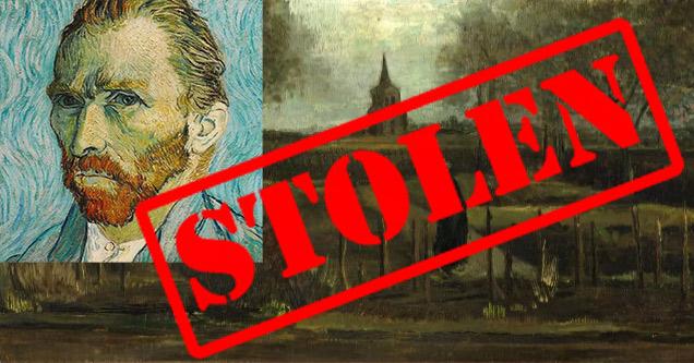 Van Gogh Art Stolen | The Parsonage Garden at Nuenen in Spring 1884