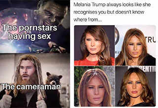funny memes and pics to make your day | memes guillermo del toro - The pornstars having sex The cameraman | melania trump meme - Melania Trump always looks she recognises you but doesn't know where from... Ru