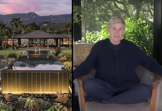 ellen degeneres in her mansion | ellen talking about feeling as though she is in jail during these times