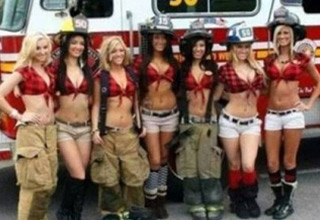 a group of hot female firefighters