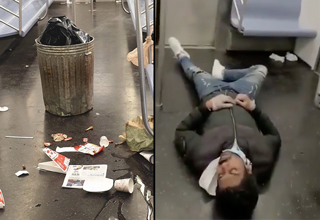 nyc subway homeless | article discussing the homeless problem on nyc subway carts