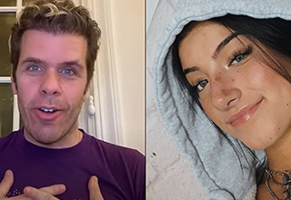 perez hilton causing drama with tiktok | screenshot of perez hilton and charli diamelio from tik tok