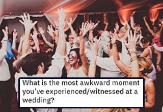 "Weddings really do have a tendency to bring out the worst in some people. If you're lucky, it's not the people standing at the altar! Either way, it certainly makes for a great story to tell strangers online. <br></br>If you thought that was bad, check out these <a href=""https://www.ebaumsworld.com/pictures/55-most-hilarious-awkward-wedding-photos/85675545/"" target=""_blank"">awkward wedding photos</a>."