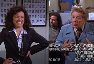 Jerry Stiller making Julia Louis-Dryfus laugh