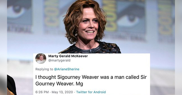 bunch of cool random facts | I thought Sigourney Weaver was a man called Sir Gourney Weaver. Mg