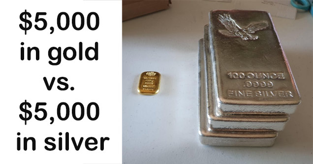 a tiny gold bar next to 3 larger silver bars that are all worth the same amount gold to silver ratio reddit - Ance 100 Ounce Imni.Si 236175 Fine Silver