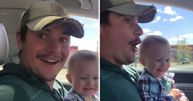 dad reacts to learning his wife is having triplets | screenshot reaction video of a dad learning his wife is pregnant