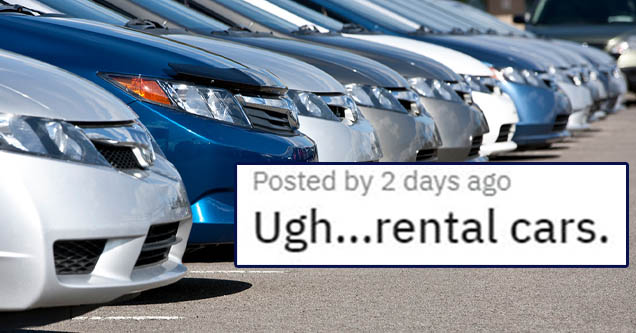 ugh... rental cars | man apologizes after being rude to a rental car company
