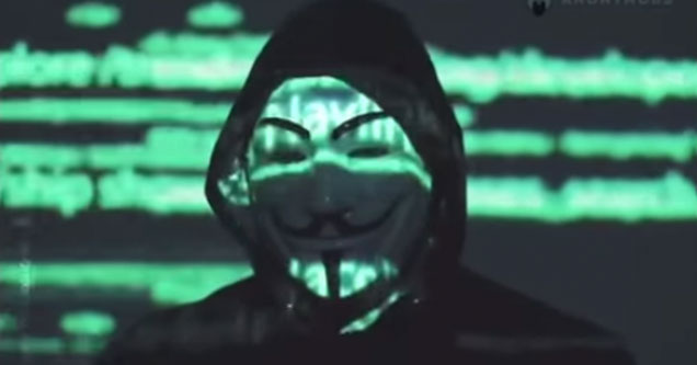 Anonymous has a message for the world | screenshot from anonymous group sending a message to the Minneapolis police