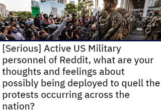 As protests over systemic injustice and police misconduct continue all across America, the idea of deploying soldiers to keep the peace has been brought up several times. Here's what actual soldiers think about it.