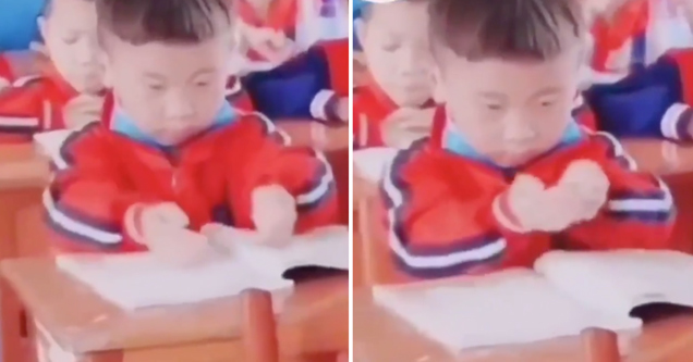 kid scooping knowledge into his brain