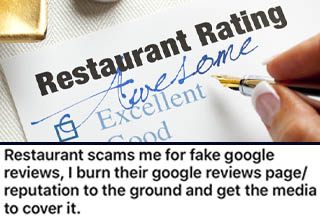 "The rise of <a href=""https://www.ebaumsworld.com/pictures/savage-business-owner-obliterates-yelp-reviewers/85851671/"" target=""_blank"">review apps like Yelp</a> has changed the restaurant game in many ways. Obviously, good reviews are precious and help restaurants attract more customers since people will now see the establishment as being more ""trustworthy."" Unfortunately, not every restaurant tries to earn good reviews via great food and service. Some have taken to gaming the system, which can work - as long as someone doesn't expose you!"