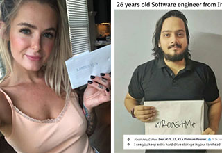 people who got roasted to a crisp | blond - 205 GrimdarkandGirly points. 10 months ago 336 Your face says | photo caption - 26 years old Software engineer from India.. rRoaste Absolutely_Coffee Best of Pt. 12, Platinum Roaster points I see you keep extra
