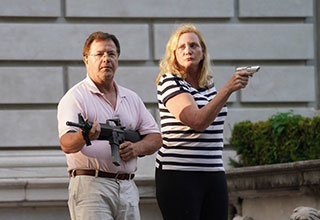 "In St Louis yesterday, as protestors made a their way to the mayors house, they encountered Ken and Karen, protecting their property from what we can only assume thought was a ""violent mob"", come to steal their jewels. Soon after the images were shared on Twitter people started making <a href=""https://www.ebaumsworld.com/pictures/40-funny-memes-for-a-good-laugh/86302641/""><strong>memes</strong></a> and photoshopping the couple into fake movie posters. <br><br> So take a look for yourself and check out some of the better Ken and <a href=""https://www.ebaumsworld.com/pictures/choosing-beggar-karen-talks-her-way-out-of-14000-bill-credit/86289816/""><strong>Karen</strong></a> memes."