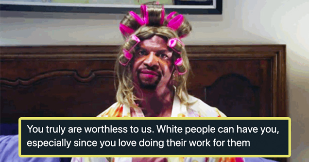 terry crews tweets black lives matter | you truly are worthless to us. white people can have you, especially since you love doing their work for them