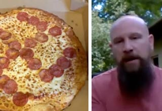 "In the town of Brooks Park, Ohio, Jason Laska received a ""hot and ready"" pizza from his local Little Caesars that came with a backward swastika."