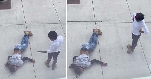 boyfriend knocked out girlfriend looks annoyed