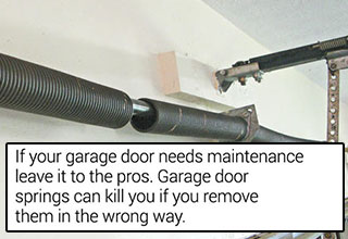 tips to save your ass - don't try to fix your garage door yourself