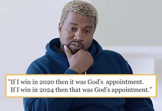 "<em>Forbes</em> magazine published excerpts from a four-hour long interview they did with <strong><a href=""https://www.ebaumsworld.com/pictures/19-reactions-to-kanyes-presidential-run-that-show-how-big-of-a-joke-it-is/86312298/"">Kanye West</a></strong> in which he explained why he was running for President and what he hopes to achieve through it. </br> </br> Kanye claimed he no longer supports <strong><a href=""https://www.ebaumsworld.com/articles/kanye-meets-with-trump-at-th-white-house-and-accidentally-exposes-his-phones-passcode/85789510/"">Donald Trump</a></strong>, he's never voted once in his life, and he's going to be running on his own political party: the Birthday Party. </br> </br> The name comes from the idea that if he wins it's going to feel like everyone's <strong><a href=""https://www.ebaumsworld.com/pictures/hilarious-happy-birthday-memes-2019/85975363/"">birthday</a></strong>.... </br> </br> You can check out the fuller version <strong><a href=""https://www.forbes.com/sites/randalllane/2020/07/08/kanye-west-says-hes-done-with-trump-opens-up-about-white-house-bid-damaging-biden-and-everything-in-between/"" target=""_blank"">here</a></strong>, but below are just some excerpts to try to give you an idea of Kanye's plans, or lack thereof. </br> </br> Anyway, since he stands no real chance of winning, I'm gonna log off for a while and whip up a batch of margaritas. <strong><a href=""https://www.ebaumsworld.com/videos/girl-learns-a-painful-lesson-attempting-trampoline-pool-dive/86312481/"">See you dudes later</a></strong>."
