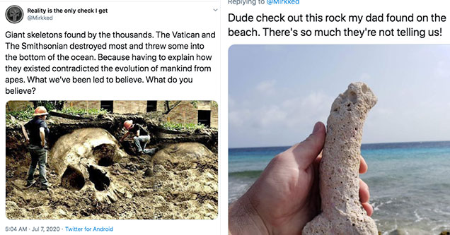 thread on giant skeletons is really bad | giant skeleton found in egypt - Reality is the only check I get Giant skeletons found by the thousands. The Vatican and The Smithsonian destroyed most and threw some into the bottom of the ocean. Because having to