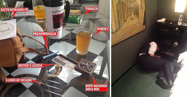 Amber Heard photo of Johnny Depp's drug lunch is odd