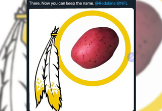 "The <strong><a href=""https://knowyourmeme.com/memes/events/washington-redskins-name-change"">Washington Redskins' announcement</a></strong> that they're going to be changing their name has a lot of people angry at hell, and these fans are letting the team know just how they feel. </br> </br> People have been arguing for and against changing the name for years, and the exact origins of the term <strong><a href=""https://www.ebaumsworld.com/videos/washington-redskins-patent-revoked/84167576/"">'redskin'</a></strong> have likewise been up for debate. </br> </br> Some say Native Americans used it to refer to themselves before Europeans ever came to North America. Others say the term came from Europeans picking a different way to refer to Native Americans as neither white nor Black. </br> </br> Today, everyone came together to either complain about the change or suggest <strong><a href=""https://www.ebaumsworld.com/articles/fake-sports-center-account-tricks-the-internet-into-thinking-colin-kaepernick-got-signed/86242904/"">funny</a></strong> new names, so at least we got that out of it."