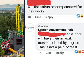 "If you ""value"" artists by profiting from their work while giving them nothing in return, you're doing it wrong. <br></br>This million-dollar amusement park thought setting up a contest for their next mask design was a great idea. The ""winner"" gets literally nothing - no share of the profits from selling the masks, no commission for their work, not even some passes to the park - which they could easily give out and even make some money back from concession sales during the visit. People were quick to point out this hypocrisy, but the park just ends up <a href=""https://www.ebaumsworld.com/videos/the-time-mark-cuban-got-fined-15k-for-dropping-the-f-bomb-and-said-fk-it/85758644/"" target=""_blank"">doubling down</a> on their justification."