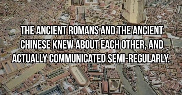 aerial photography - The Ancient Romans And The Ancient Chinese Knew About Each Other, And Actually Communicated SemiRegularly. Loro