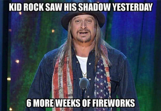 "There's a new <strong><a href=""https://knowyourmeme.com/memes/kid-rock-walking-on-the-beach"">Kid Rock meme</a></strong> going around that's a picture of him strolling on the beach like he's about to put a flag in the sand and claim it as part of Kid Rock-opolis. </br> </br> However, there's not many versions of that meme yet, so to kick start the celebration early, here's a rowdy bunch of <strong><a href=""https://www.ebaumsworld.com/videos/kid-rock-blasts-oprah-winfrey-kathie-lee-gifford-during-drunken-rant-on-stage/86128282/"">Kid Rock</a></strong> memes to keep your spirits high. </br> </br> After all, no one captures the spirit of the <strong><a href=""https://www.ebaumsworld.com/videos/kid-rock-promotes-his-new-american-badass-grill-with-this-cringeworthy-commercial/85297917/"">U.S. of A.</a></strong> better than Mr. Rock himself, so why not be reminded of that with these amazing memes. </br> </br> When you're done rockin' out with these, go have a beer and put some <strong><a href=""https://www.ebaumsworld.com/videos/guy-has-fireworks-cannons-for-arms/85708487/"">fireworks</a></strong> in the microwave. For old time's sake. </br> </br> If you're still not drunk, <strong><a href=""https://www.ebaumsworld.com/pictures/the-13-levels-of-drunk-that-everyone-experiences/84581464/"">click here</a></strong>."