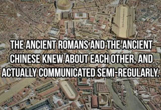 aerial photography - The Ancient Romans And The Ancient Chinese Knew About Each Other, And Actually Communicated SemiRaerial photography - The Ancient Romans And The Ancient Chinese Knew About Each Other, And Actually Communicated SemiRegularly. Loroegula