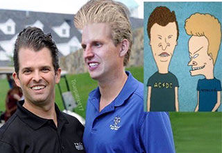 cool pictures and memes | Eric and Donald Jr as Beavis and Butthead