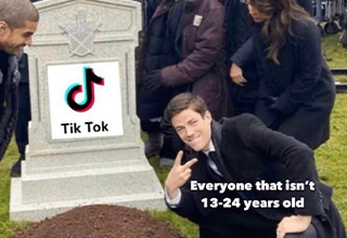 guy posing in front of grave template - Tik Tok Everyone that isn't 1324 years old